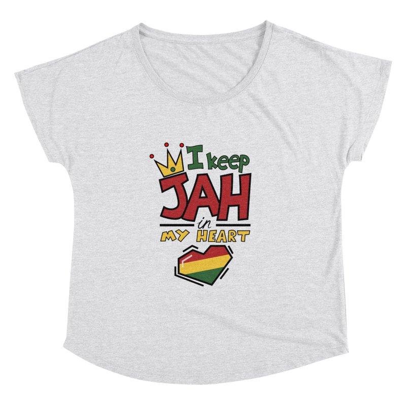 I keep Jah in my Heart Women's Dolman Scoop Neck by Hristo's Shop