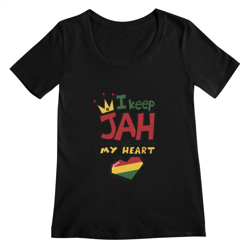 I keep Jah in my Heart Women's Scoopneck by Hristo's Shop