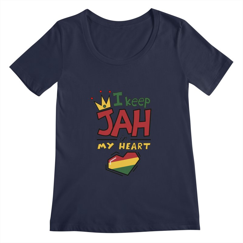 I keep Jah in my Heart Women's Regular Scoop Neck by Hristo's Shop