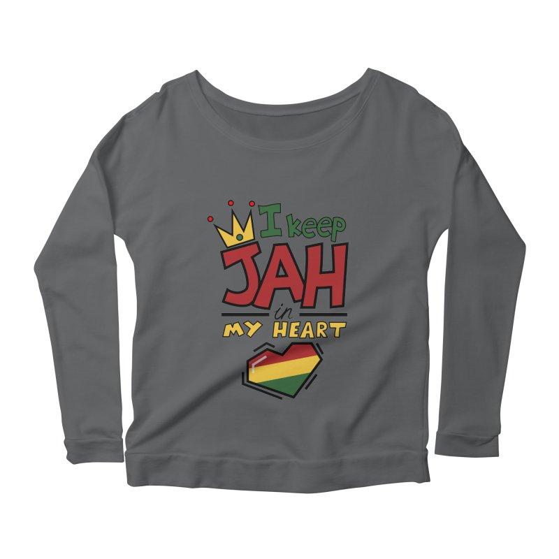 I keep Jah in my Heart Women's Longsleeve Scoopneck  by Hristo's Shop
