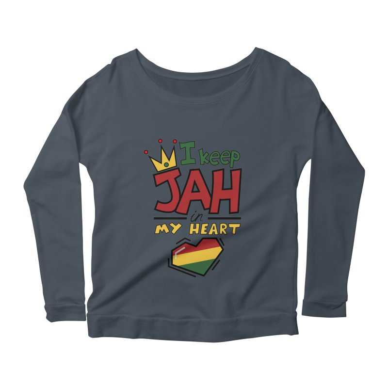 I keep Jah in my Heart Women's Longsleeve Scoopneck  by hristodonev's Artist Shop