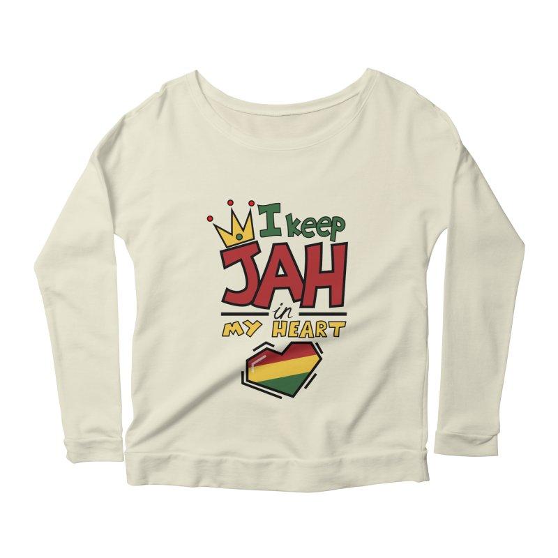 I keep Jah in my Heart Women's Longsleeve Scoopneck  by hristodonev's Artist Shop