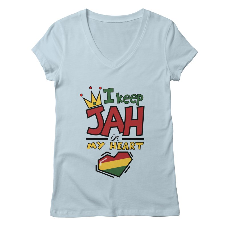 I keep Jah in my Heart Women's V-Neck by hristodonev's Artist Shop