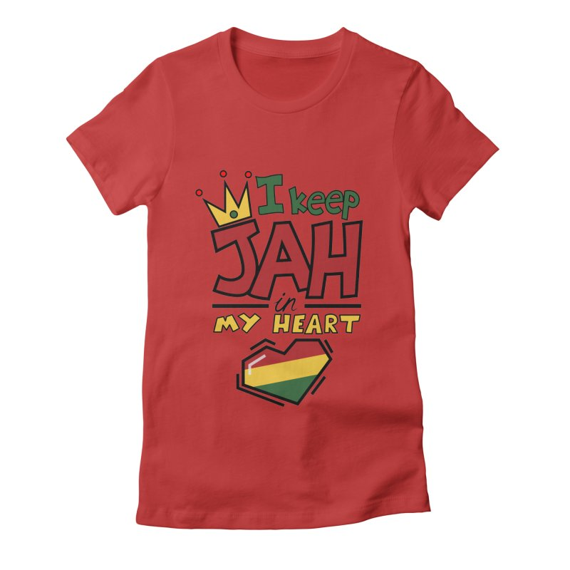 I keep Jah in my Heart Women's Fitted T-Shirt by hristodonev's Artist Shop