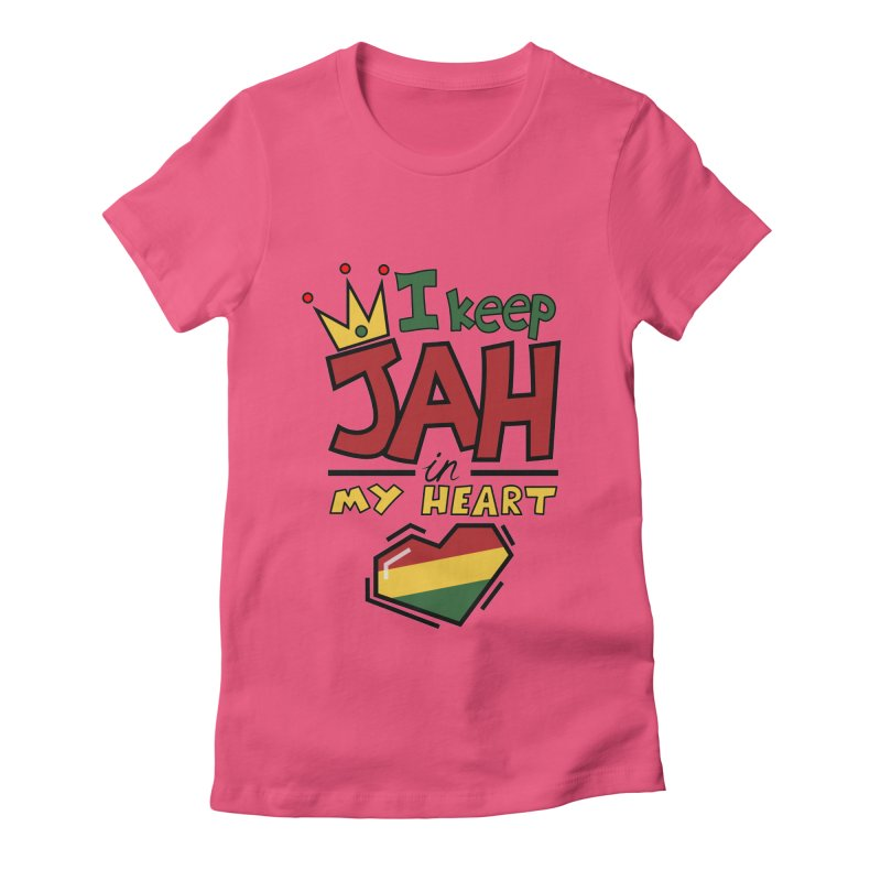I keep Jah in my Heart Women's Fitted T-Shirt by Hristo's Shop