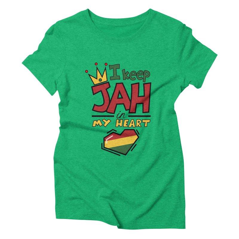 I keep Jah in my Heart Women's Triblend T-shirt by hristodonev's Artist Shop