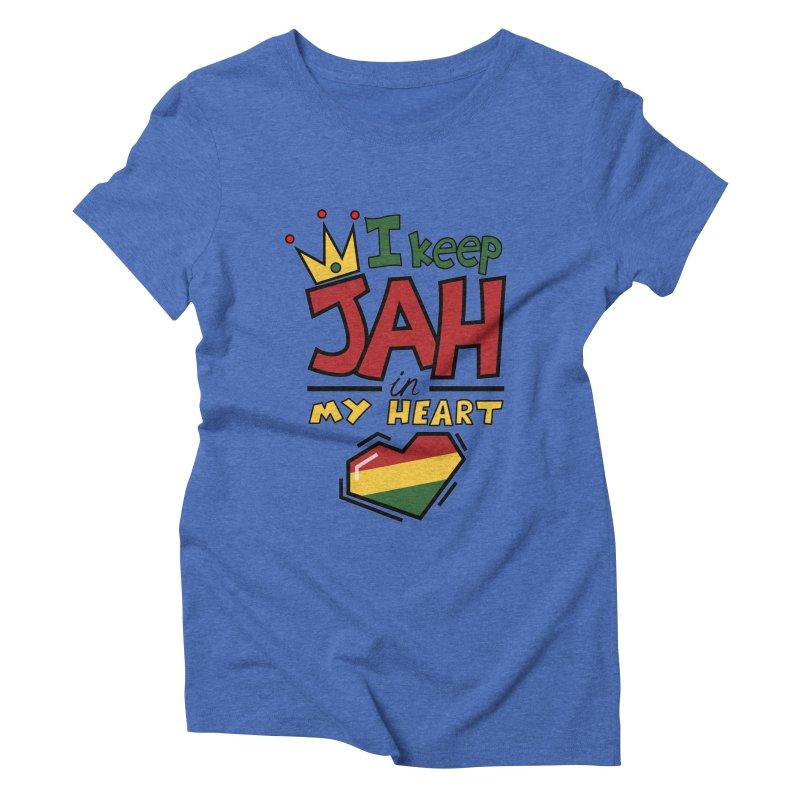 I keep Jah in my Heart Women's Triblend T-Shirt by Hristo's Shop