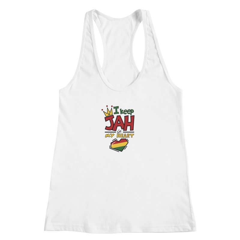 I keep Jah in my Heart Women's Racerback Tank by Hristo's Shop