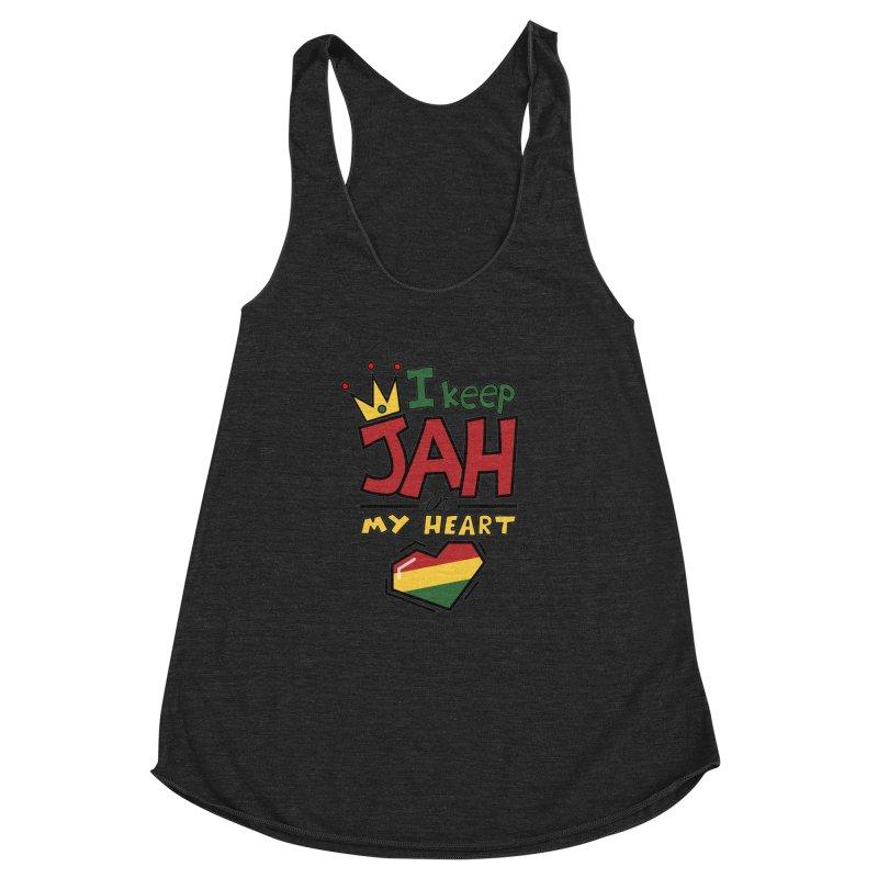 I keep Jah in my Heart Women's Racerback Triblend Tank by Hristo's Shop