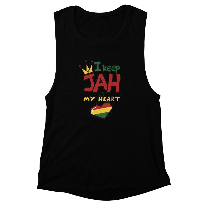I keep Jah in my Heart Women's Muscle Tank by Hristo's Shop
