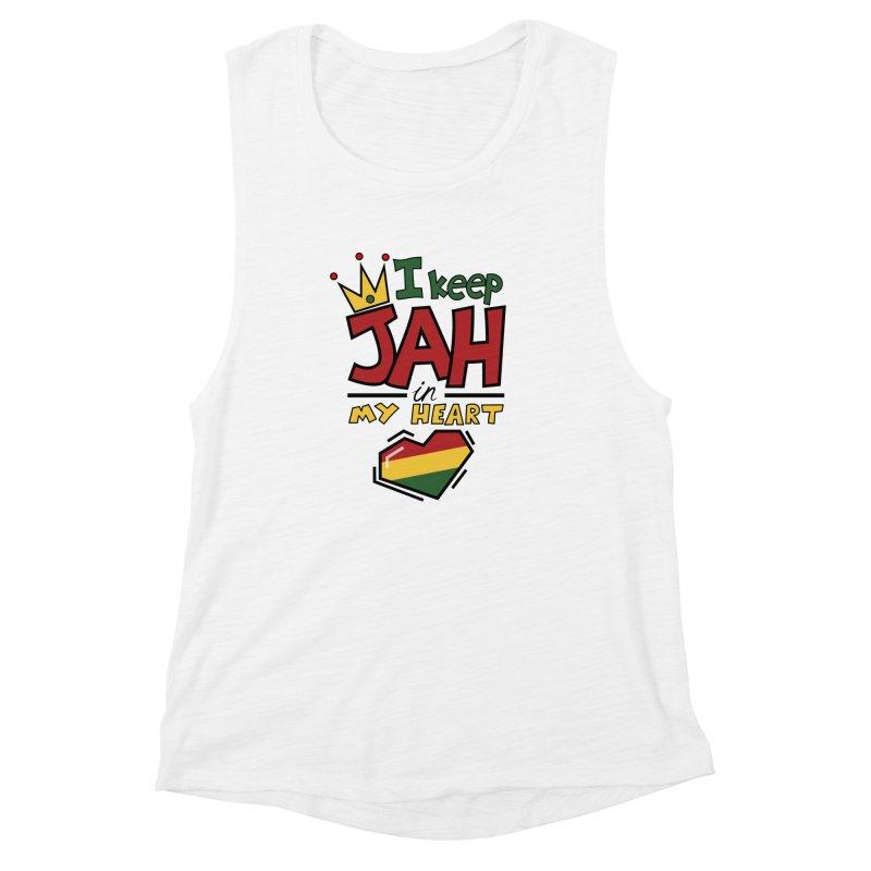I keep Jah in my Heart Women's Muscle Tank by hristodonev's Artist Shop