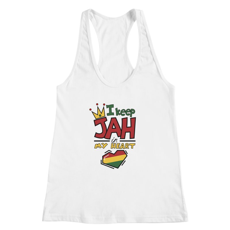 I keep Jah in my Heart Women's Racerback Tank by hristodonev's Artist Shop