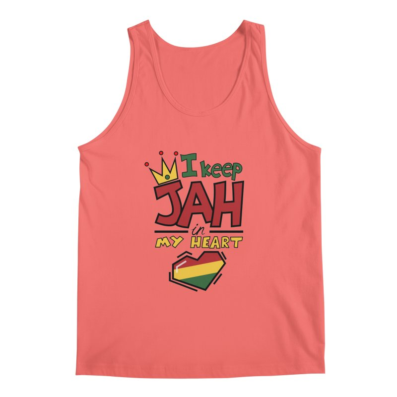 I keep Jah in my Heart Men's Tank by hristodonev's Artist Shop