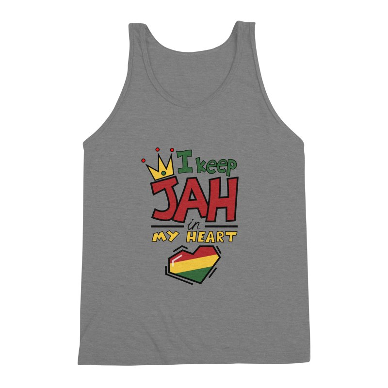 I keep Jah in my Heart Men's Triblend Tank by hristodonev's Artist Shop