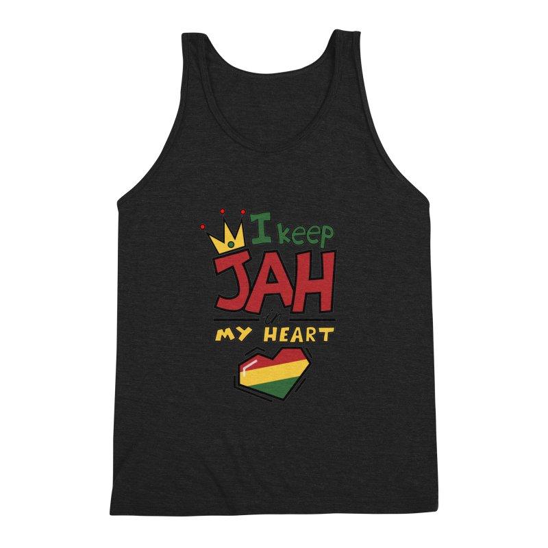 I keep Jah in my Heart Men's Triblend Tank by hristodonev's Artist Shop
