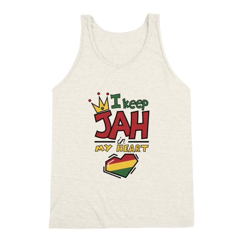 I keep Jah in my Heart Men's Triblend Tank by Hristo's Shop