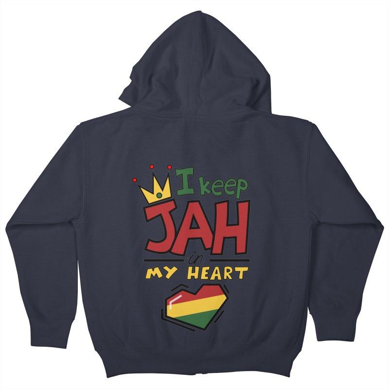 I keep Jah in my Heart Kids Zip-Up Hoody by hristodonev's Artist Shop