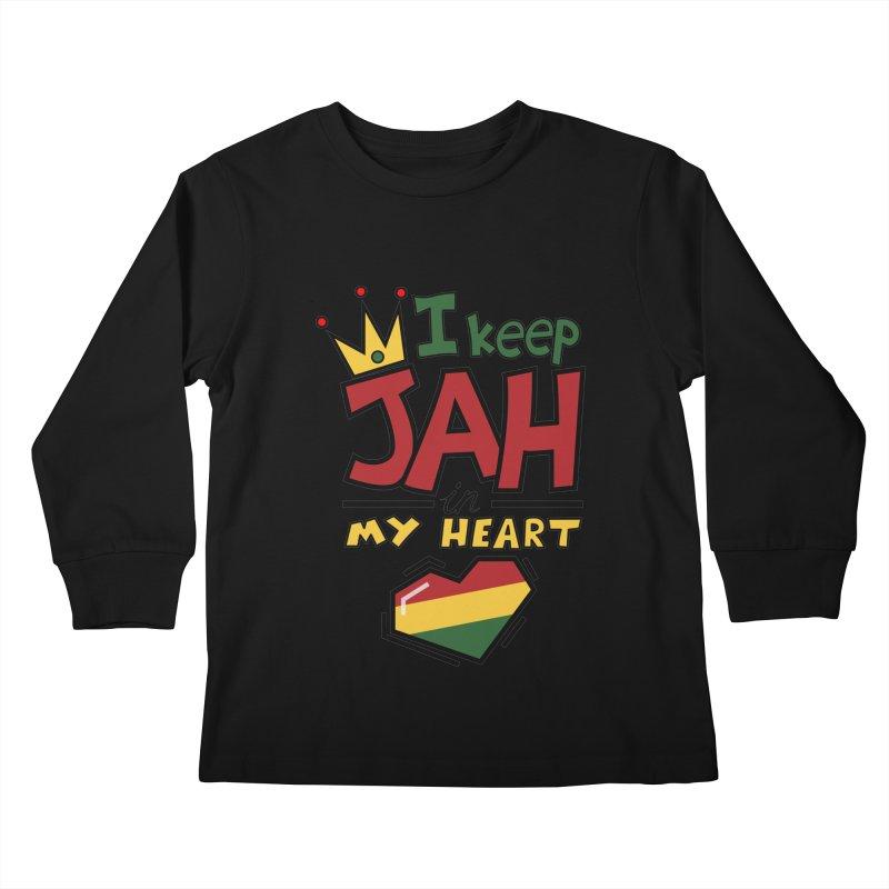 I keep Jah in my Heart Kids Longsleeve T-Shirt by hristodonev's Artist Shop