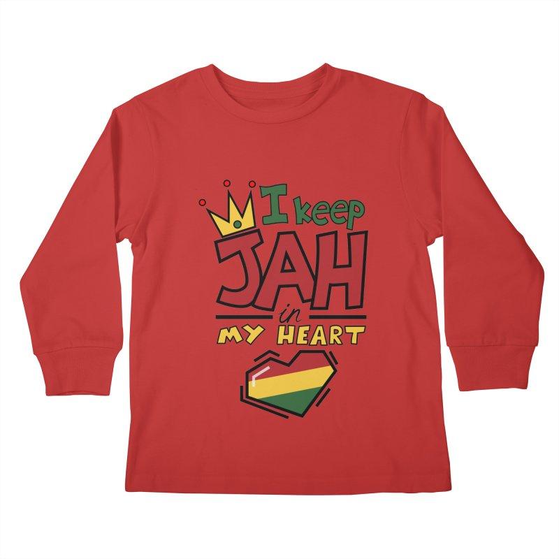 I keep Jah in my Heart Kids Longsleeve T-Shirt by Hristo's Shop