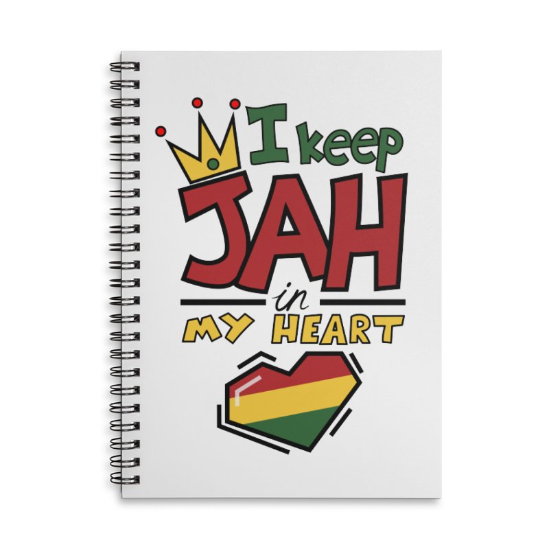 I keep Jah in my Heart Accessories Lined Spiral Notebook by Hristo's Shop