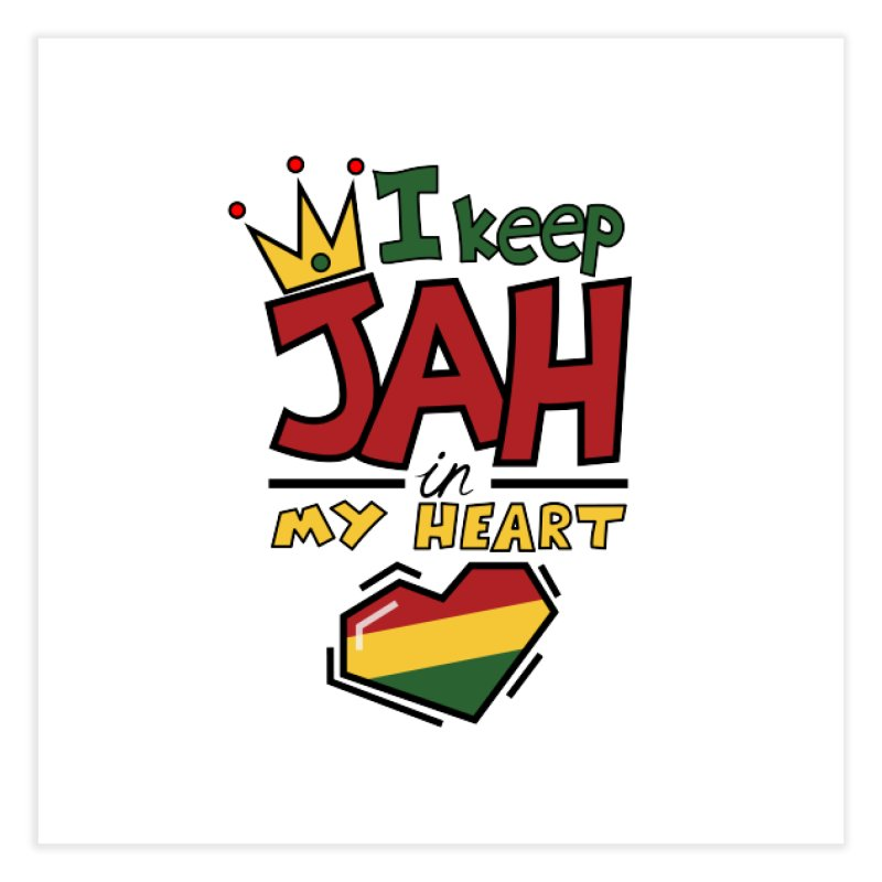I keep Jah in my Heart Home Fine Art Print by Hristo's Shop