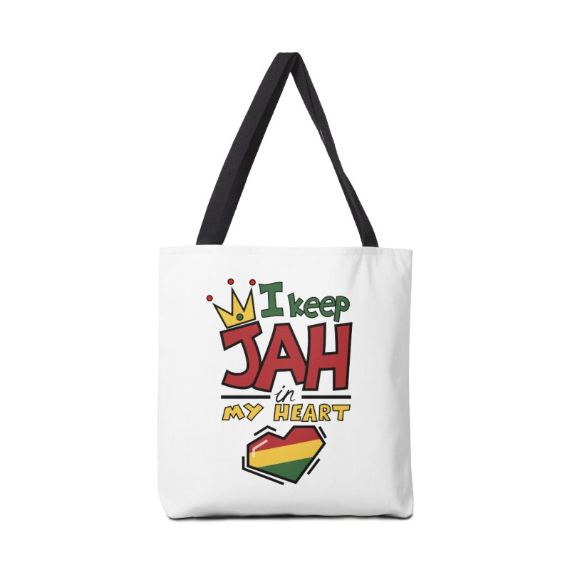 I keep Jah in my Heart Accessories Tote Bag Bag by Hristo's Shop