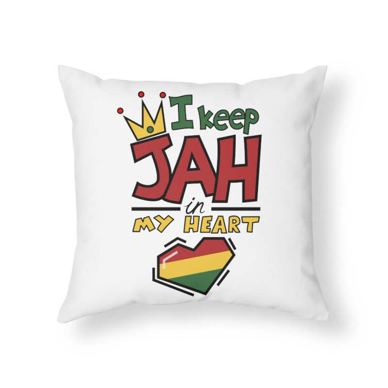 I keep Jah in my Heart Home Throw Pillow by Hristo's Shop
