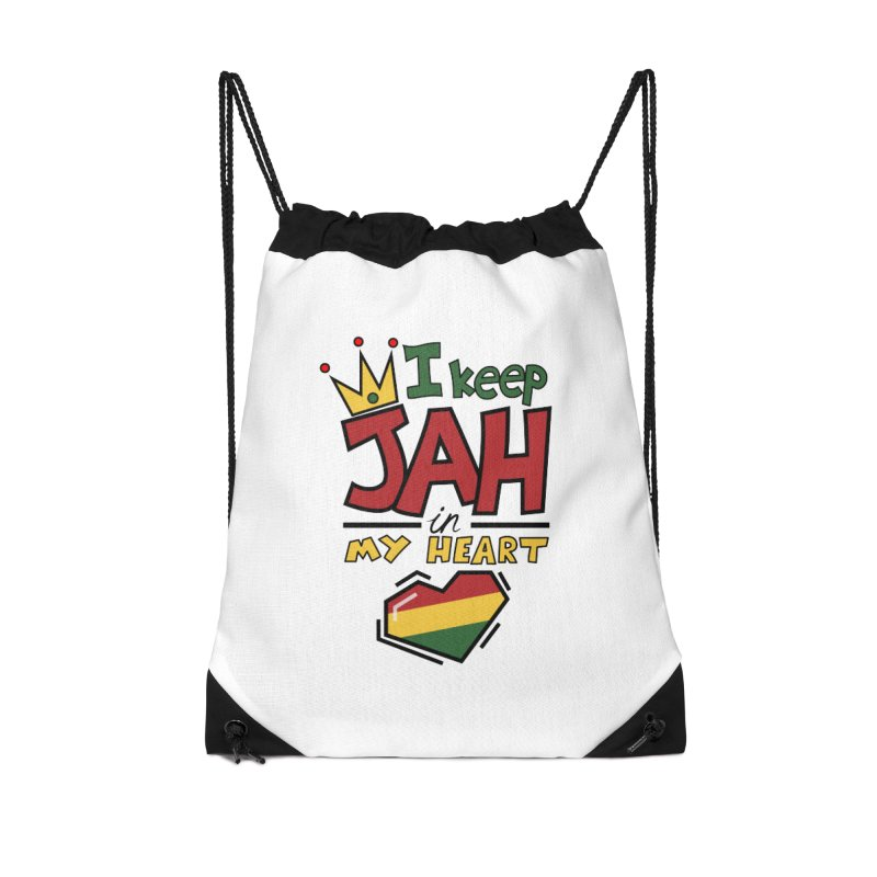 I keep Jah in my Heart Accessories Drawstring Bag Bag by Hristo's Shop