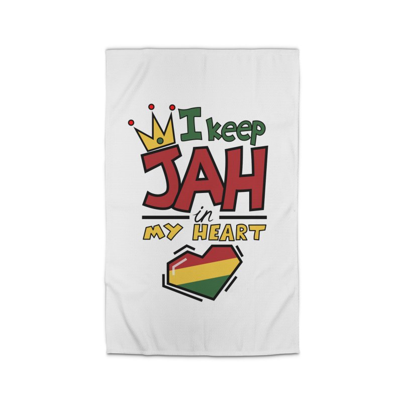 I keep Jah in my Heart Home Rug by Hristo's Shop