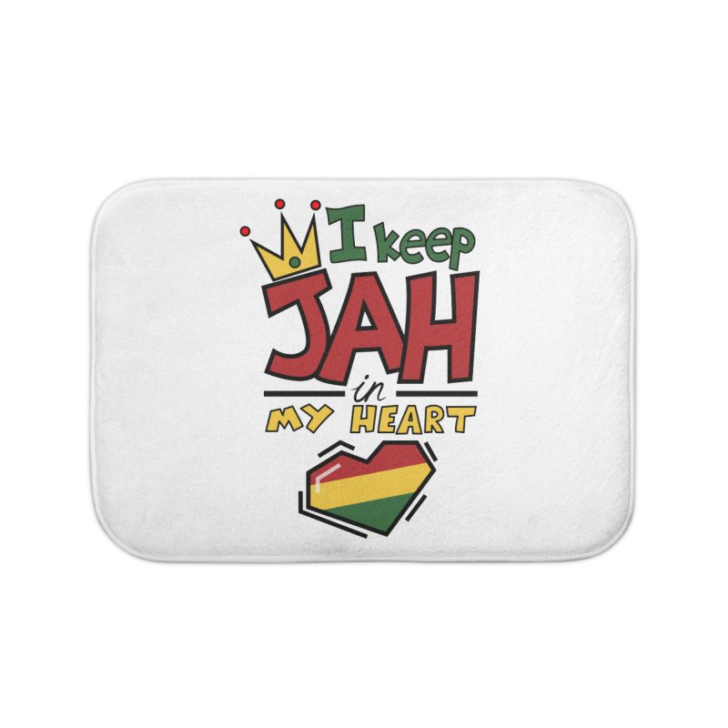 I keep Jah in my Heart Home Bath Mat by hristodonev's Artist Shop