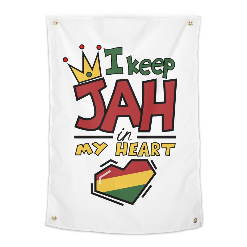 I keep Jah in my Heart Home Tapestry by Hristo's Shop
