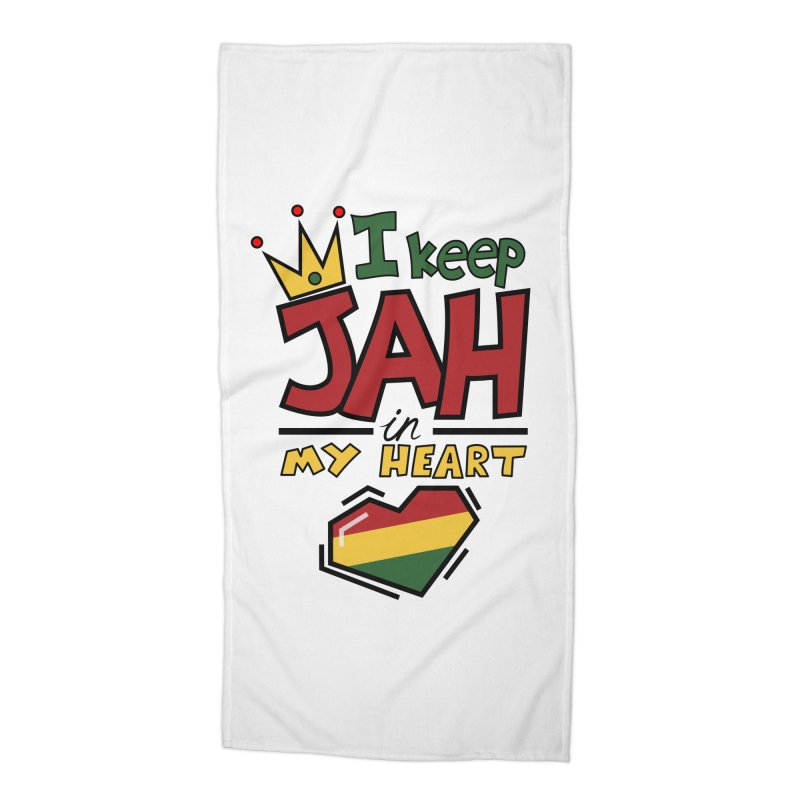 I keep Jah in my Heart Accessories Beach Towel by Hristo's Shop