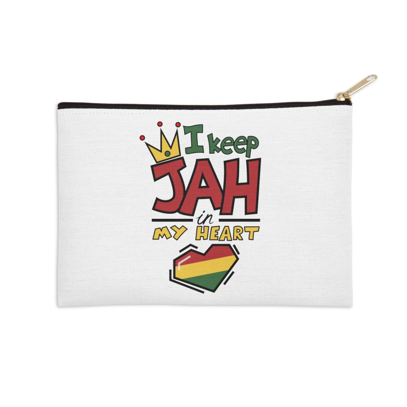 I keep Jah in my Heart Accessories Zip Pouch by hristodonev's Artist Shop