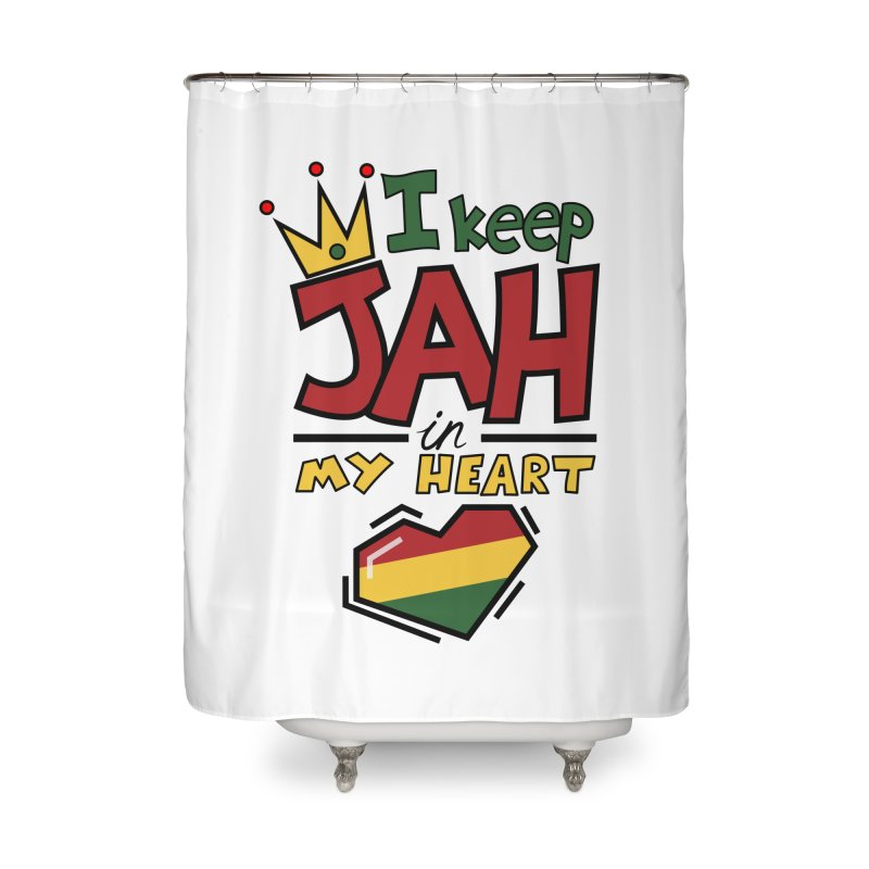 I keep Jah in my Heart Home Shower Curtain by Hristo's Shop