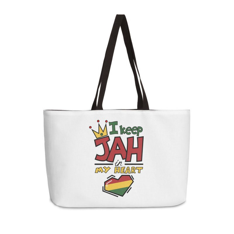I keep Jah in my Heart Accessories Weekender Bag Bag by Hristo's Shop