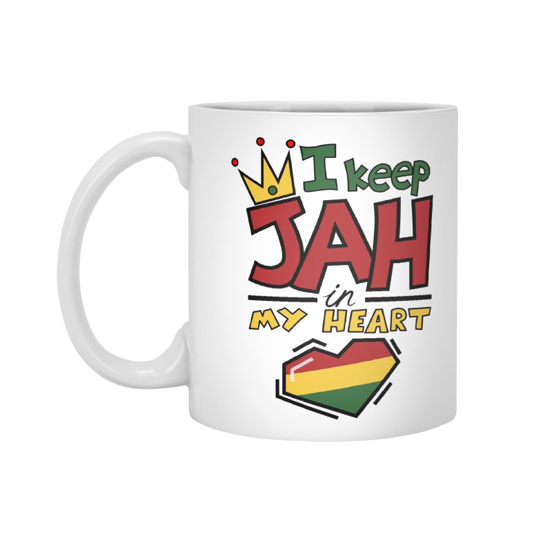 I keep Jah in my Heart Accessories Mug by hristodonev's Artist Shop