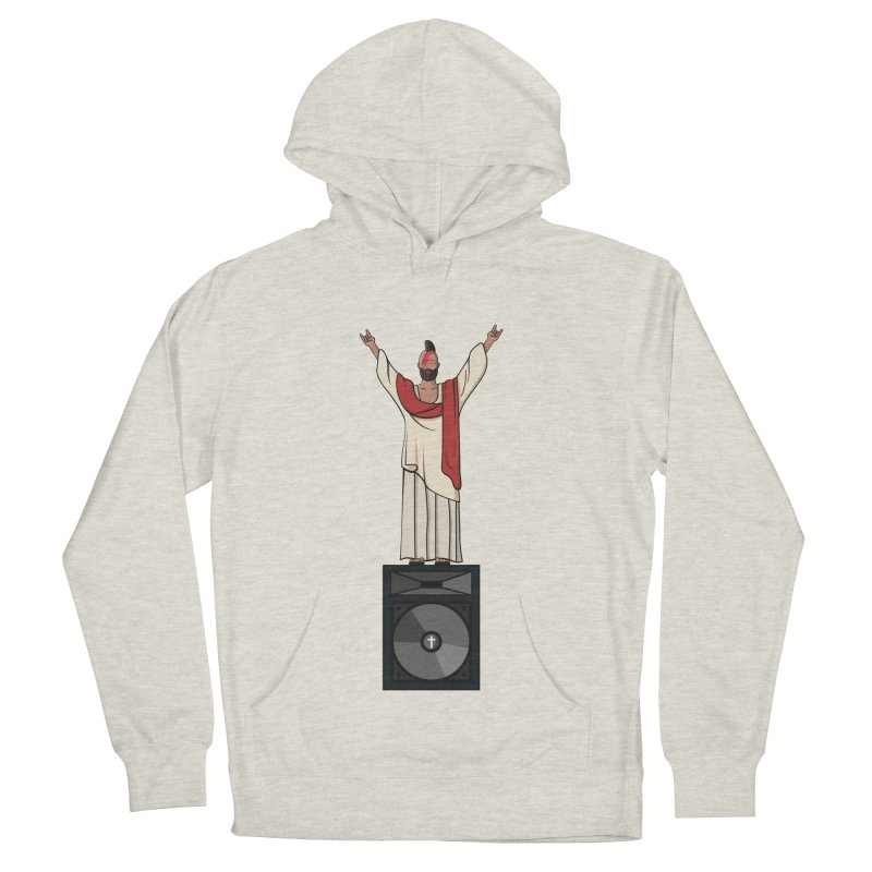 Raving Jeesus Men's French Terry Pullover Hoody by Hristo's Shop
