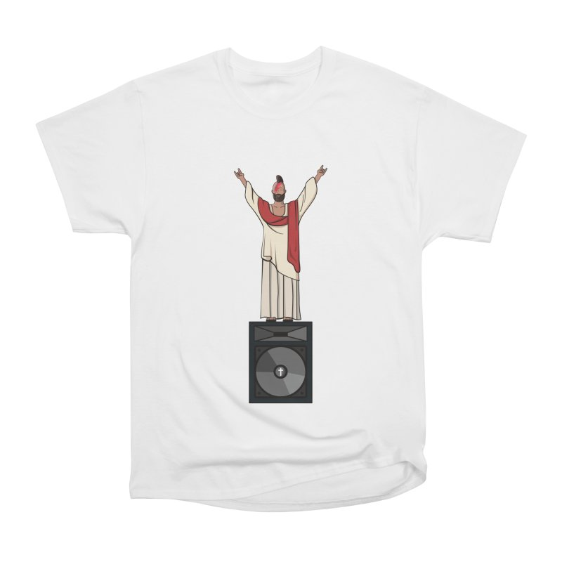 Raving Jeesus Women's Heavyweight Unisex T-Shirt by Hristo's Shop