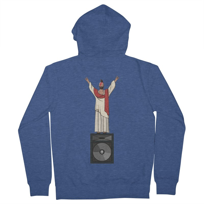 Raving Jeesus Men's French Terry Zip-Up Hoody by Hristo's Shop