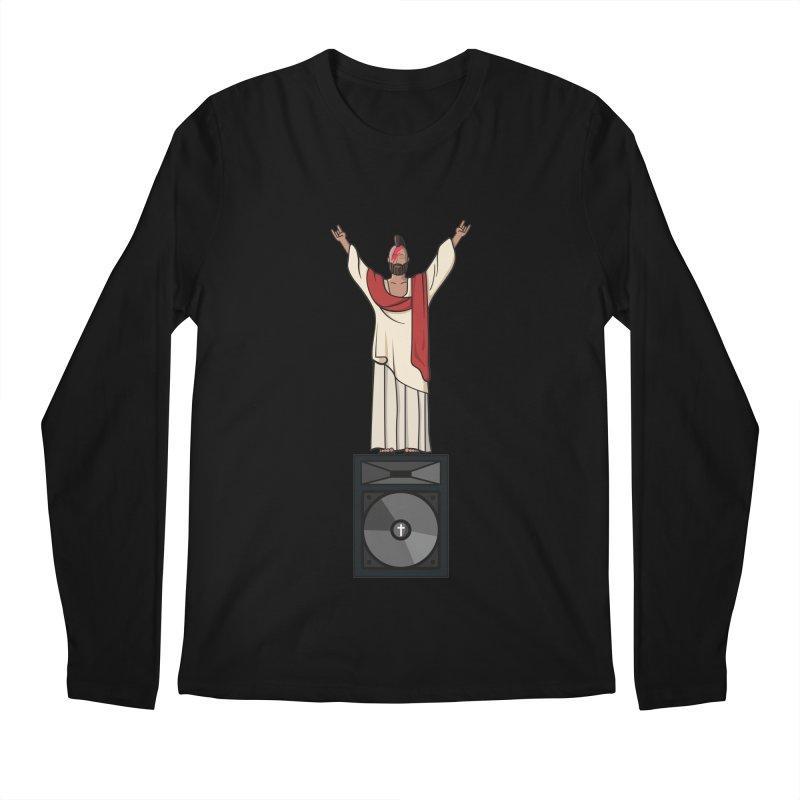 Raving Jeesus Men's Regular Longsleeve T-Shirt by Hristo's Shop
