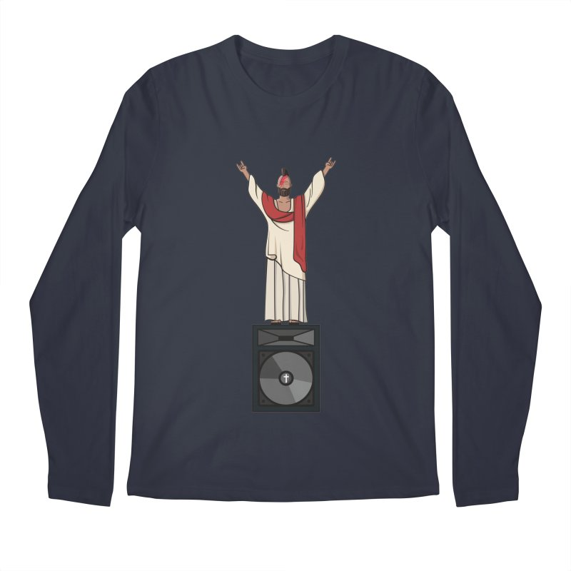 Raving Jeesus Men's Regular Longsleeve T-Shirt by Hristo's Shop