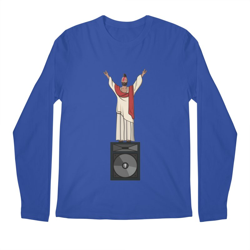 Raving Jeesus Men's Longsleeve T-Shirt by hristodonev's Artist Shop