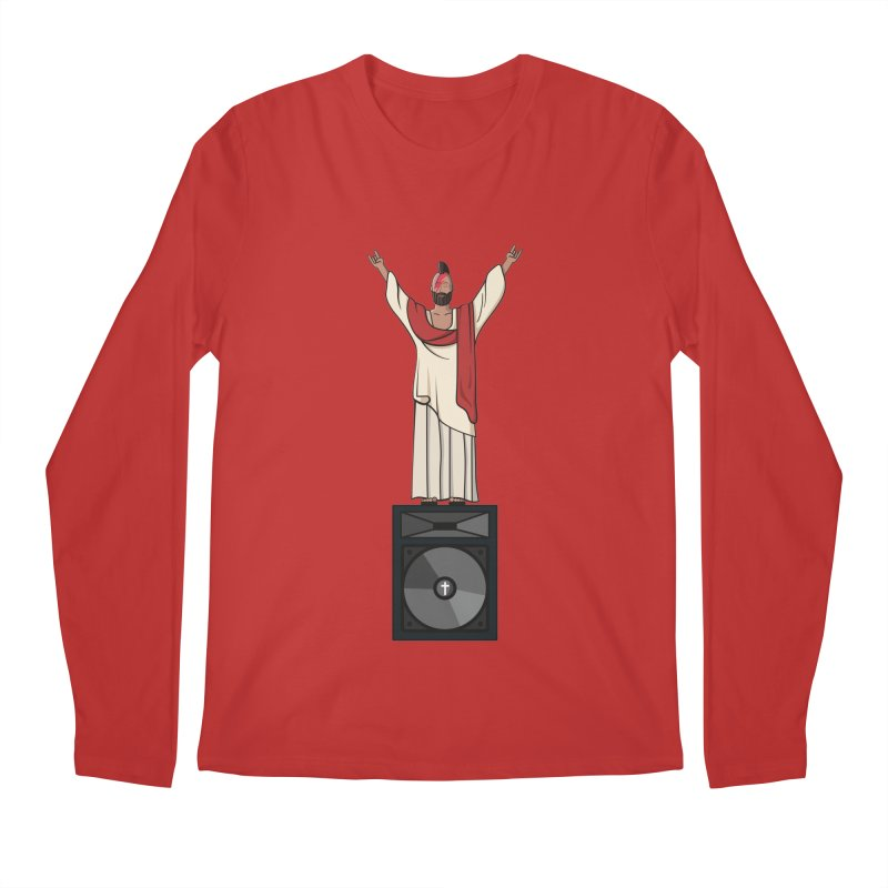 Raving Jeesus Men's Longsleeve T-Shirt by Hristo's Shop
