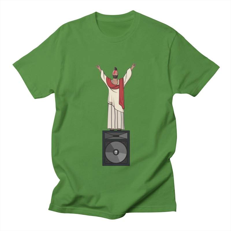 Raving Jeesus Men's T-shirt by hristodonev's Artist Shop