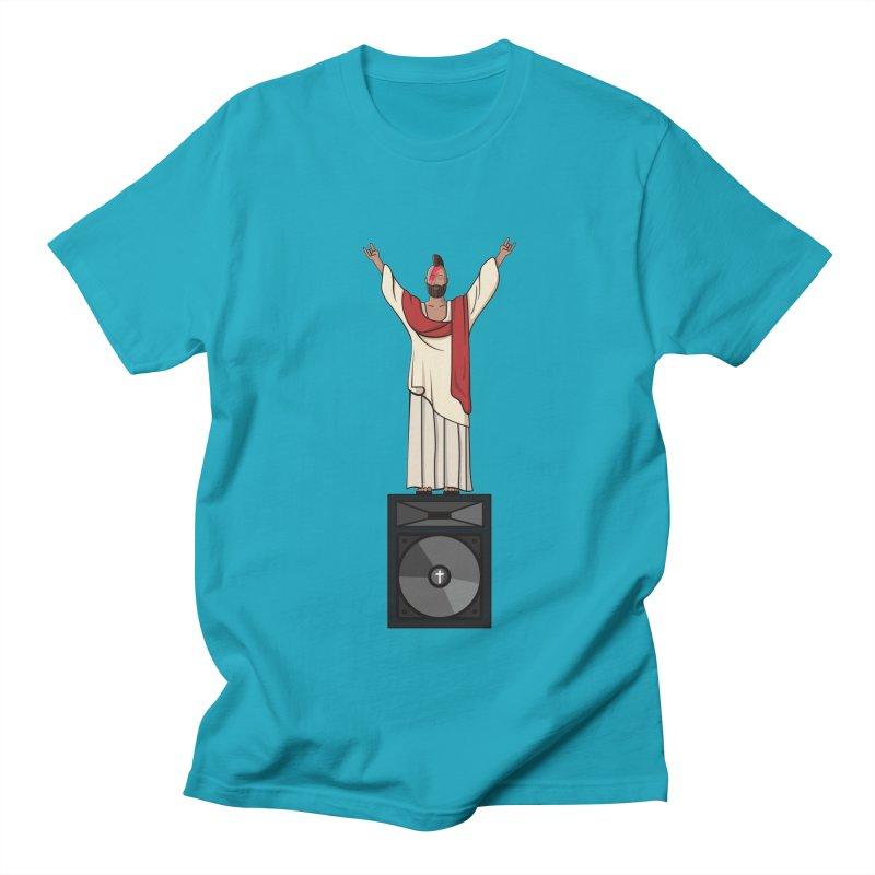 Raving Jeesus Men's Regular T-Shirt by Hristo's Shop