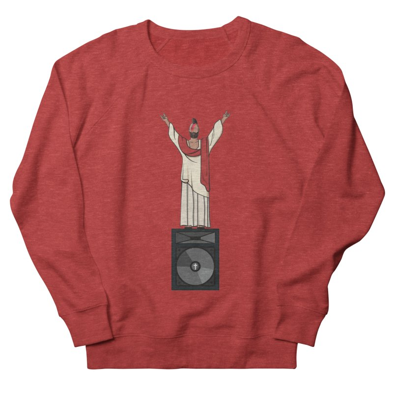 Raving Jeesus Women's French Terry Sweatshirt by Hristo's Shop