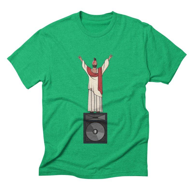 Raving Jeesus Men's Triblend T-Shirt by Hristo's Shop