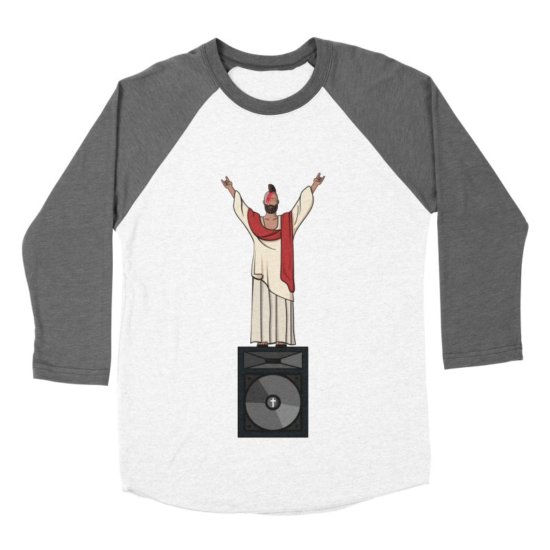 Raving Jeesus Women's Baseball Triblend Longsleeve T-Shirt by Hristo's Shop
