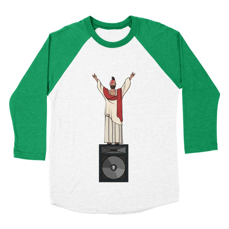 Raving Jeesus Women's Baseball Triblend T-Shirt by hristodonev's Artist Shop