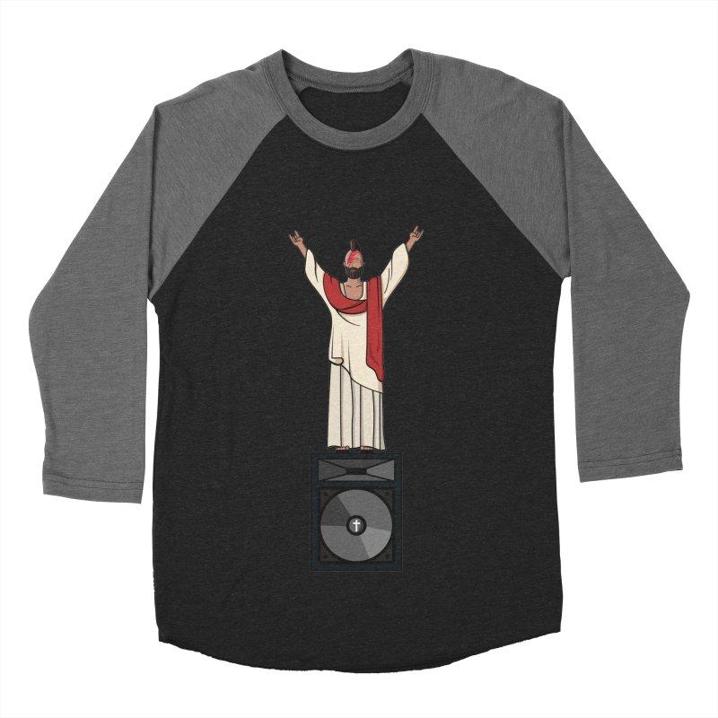 Raving Jeesus Women's Baseball Triblend Longsleeve T-Shirt by Hristo's Shop